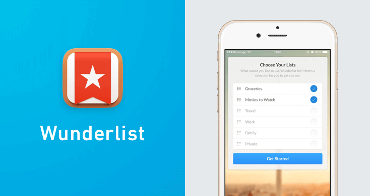 Wunderlist - one of the top apps for entrepreneurs.