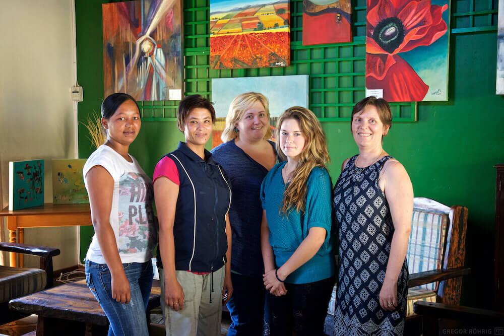 The ladies at iNkosi Eco Lodge.