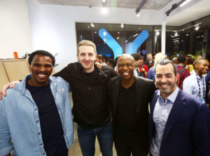 The Yoco founders at the POS launch.