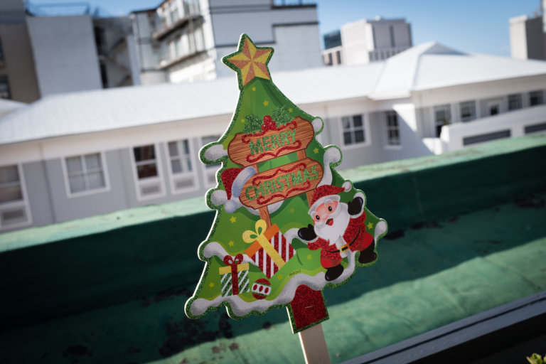 Christmas decorations in an article about preparing your business for the festive season.
