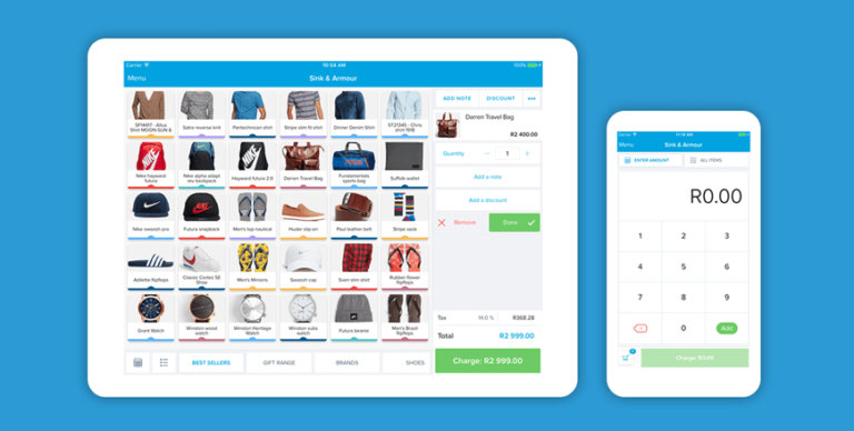 An image of the Yoco Point of Sale App.