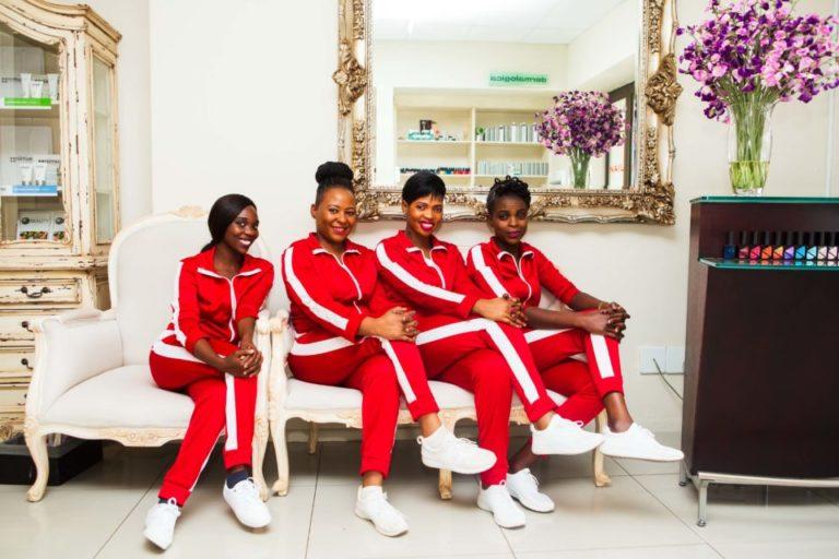 The ladies of La Blosh Nail Boutique.