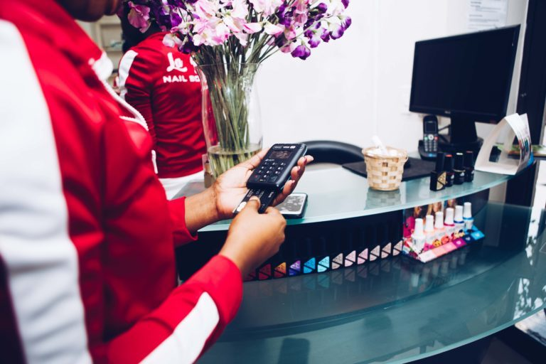 Using Yoco at La Blosh Nail Boutique.