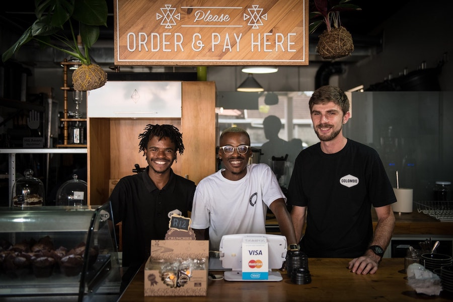 The baristas of Colombo Coffee in Durban.