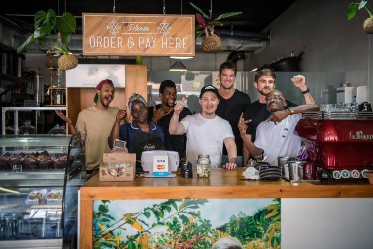 A pic of the guys at Colombo Coffee in Durban in an article about motivating your employees.