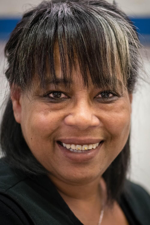 Charmaine, who works at Ubuntu Baba in Retreat, Cape Town.