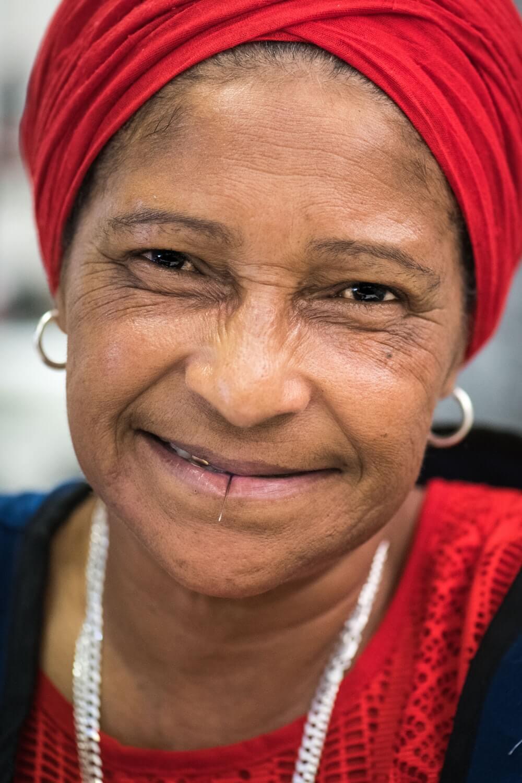Fazlyn, who works at Ubuntu Baba in Retreat, Cape Town.