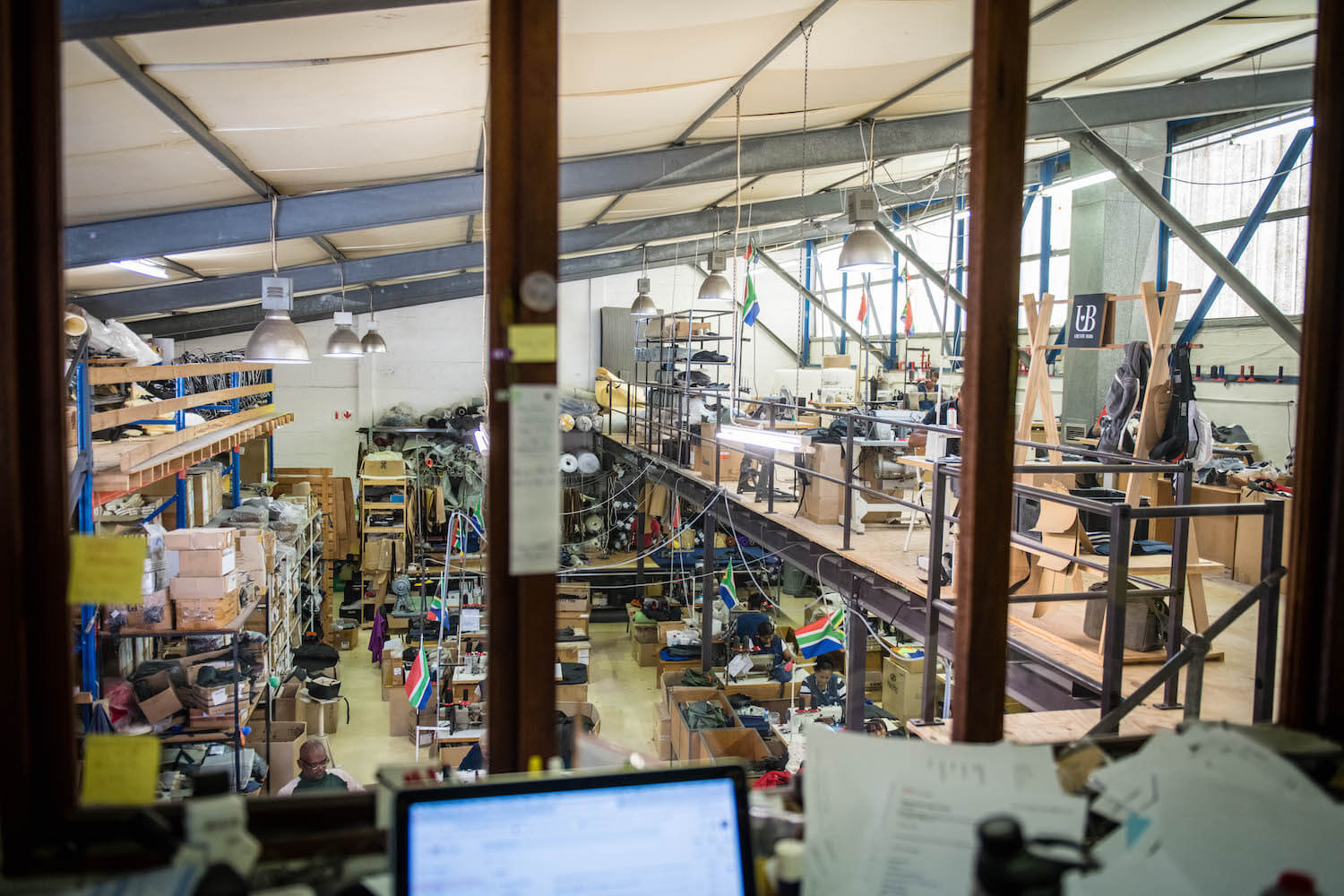 The view of the factory floor at Ubuntu Baba.