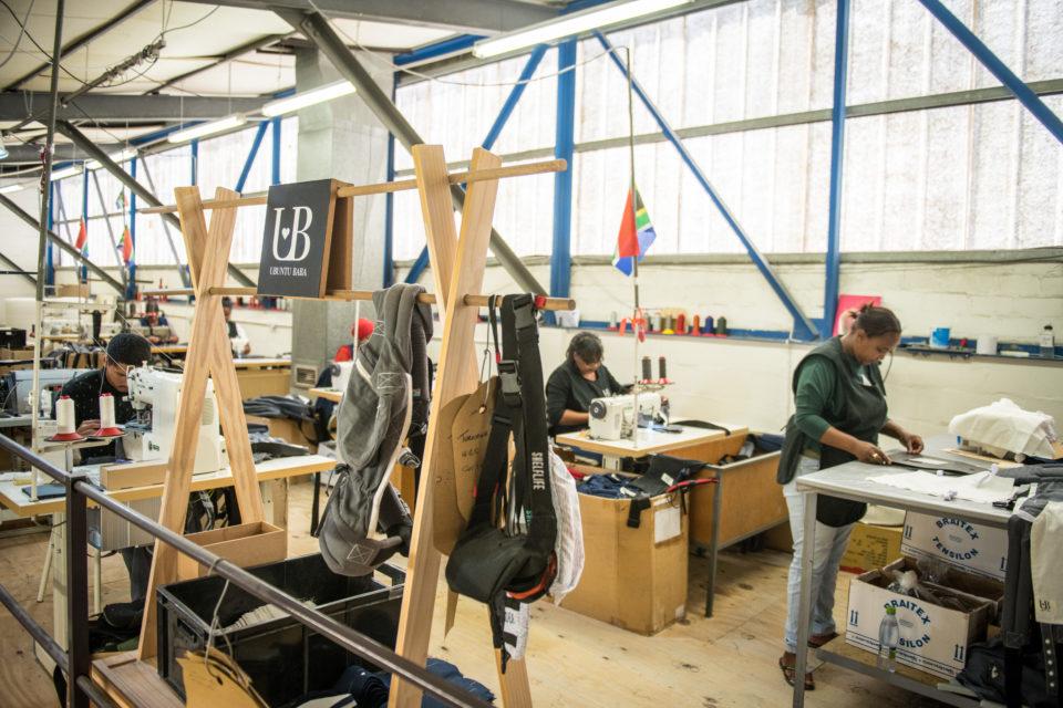 Inside the factory at Ubuntu Baba.