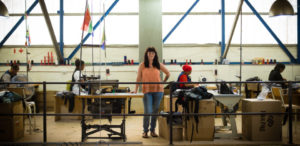 Shannon McLaughlin in the Ubuntu Baba factory in a story about protecting intellectual property.