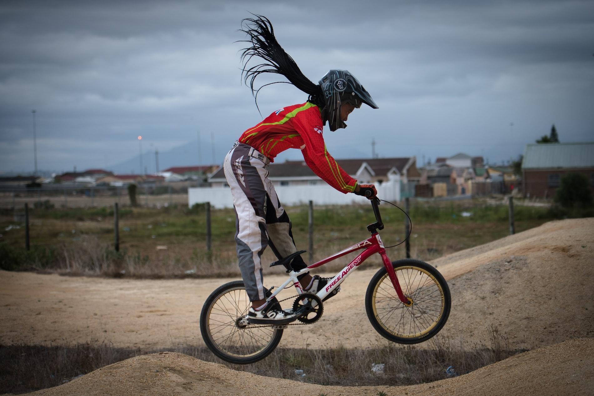 Anita Zenani on the dirt track.
