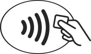 The contactless payment symbol