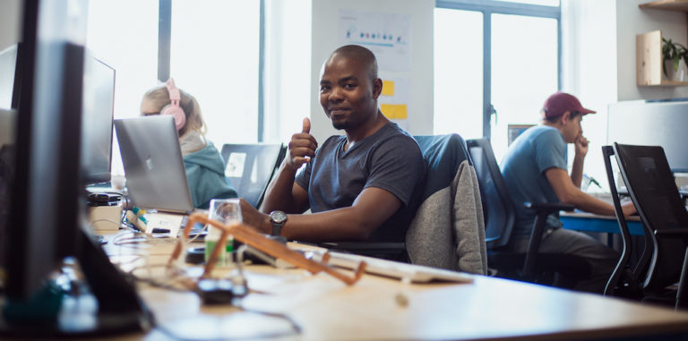 An image of Ncedile Nkonyana, one of the software developers.
