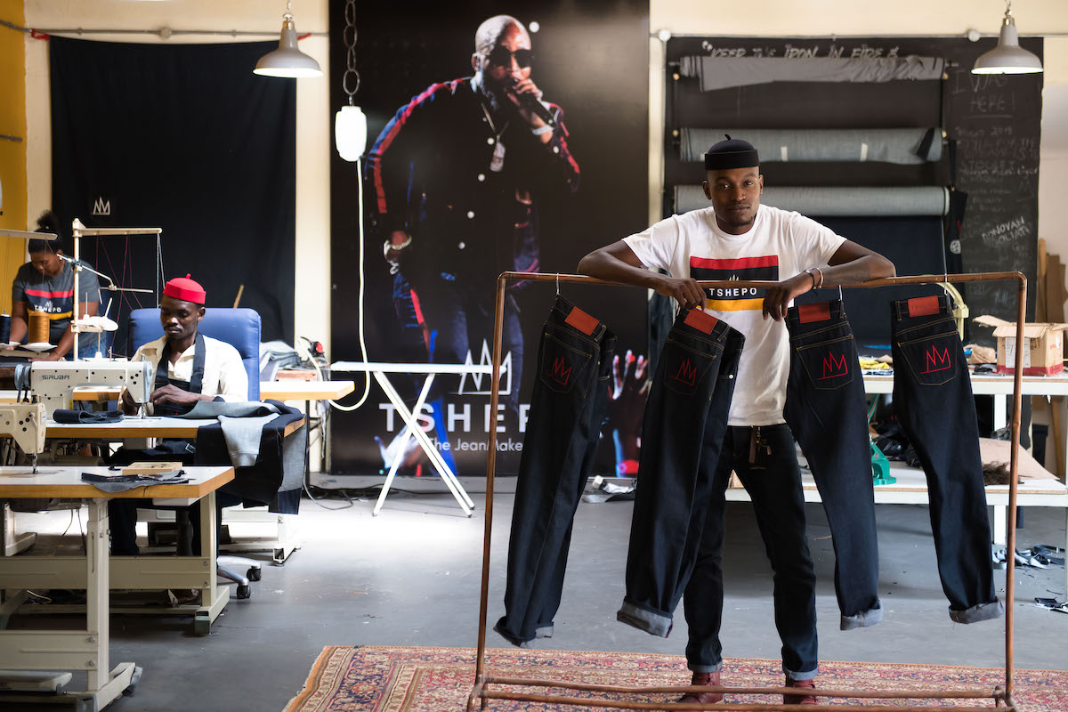 Tshepo Mohlala in his studio.