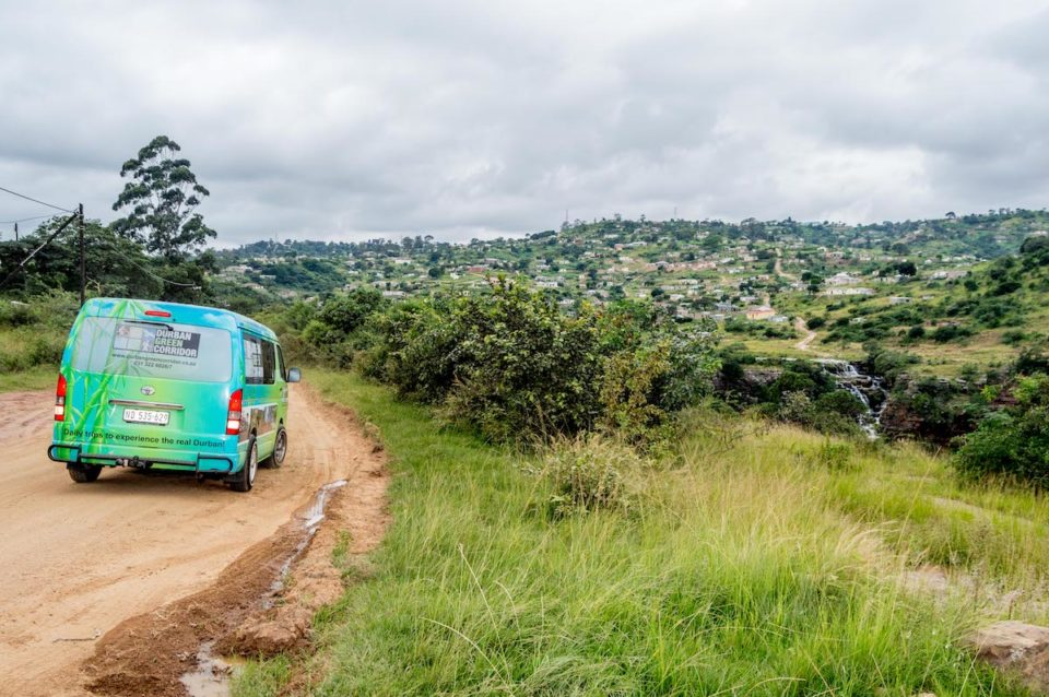 'Daily trips to experience the real Durban' - Durban Green Corridors' Quantum painted vibrant green, drops visitors, volunteers and explorers off at various destinations in and around Durban.