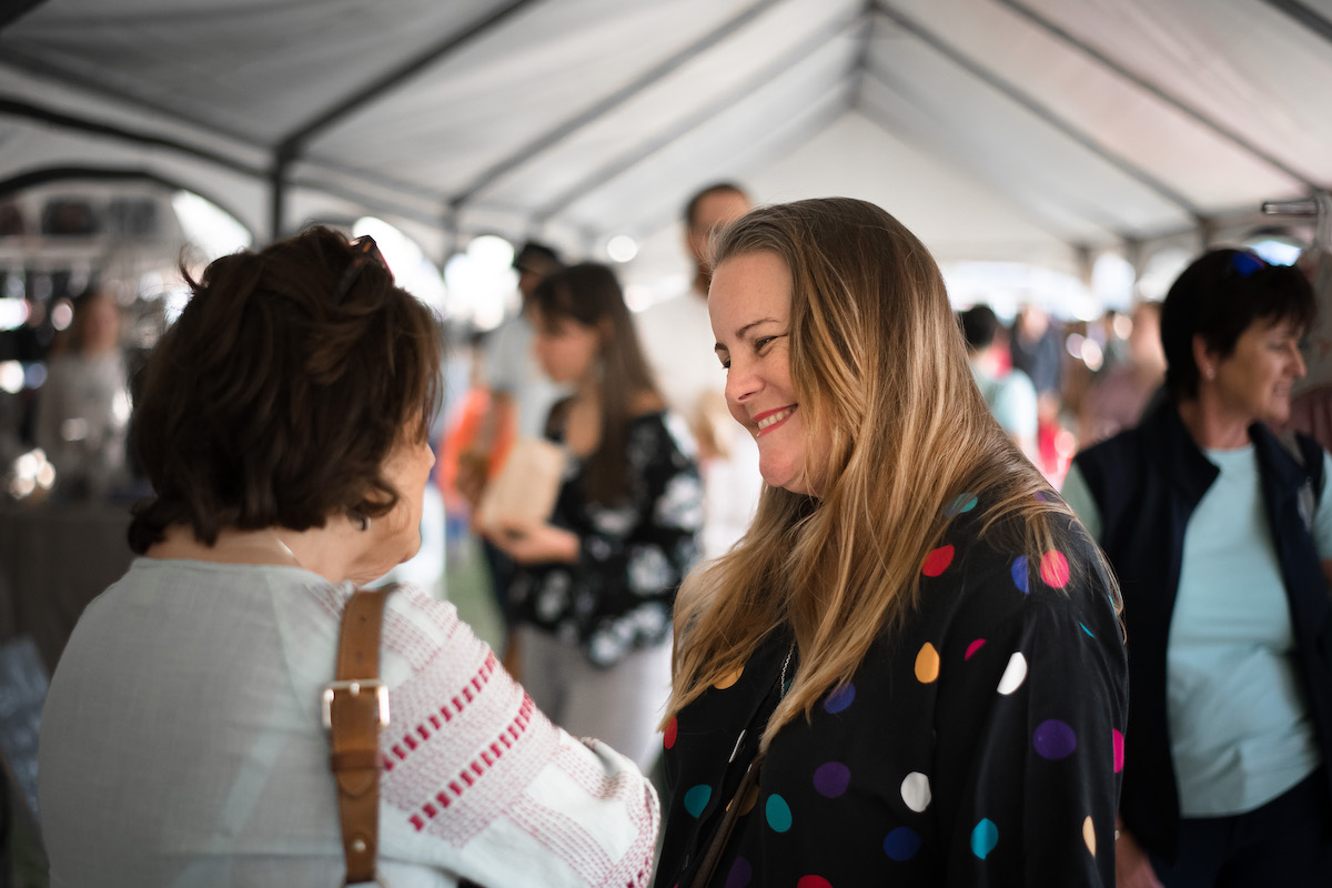 An image of Anna Savage, who runs the I Heart Market in Durban.