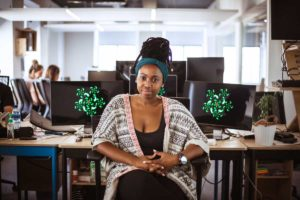 An image of Mandisa Mjamba, a software developer on Open by Yoco.