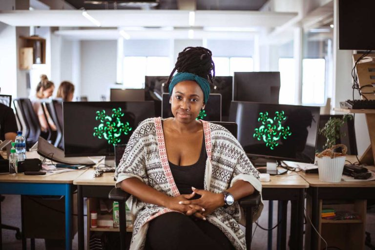 An image of Mandisa Mjamba, a software developer at Yoco.