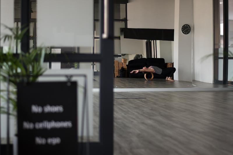 A yoga session at Manifest Yoga Studio.