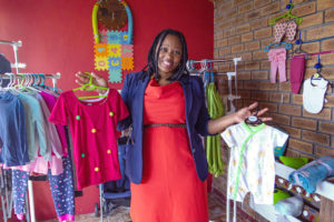 Zandile Tlhapi of Baby Friendly at her baby store in Khayelitsha, Cape Town.
