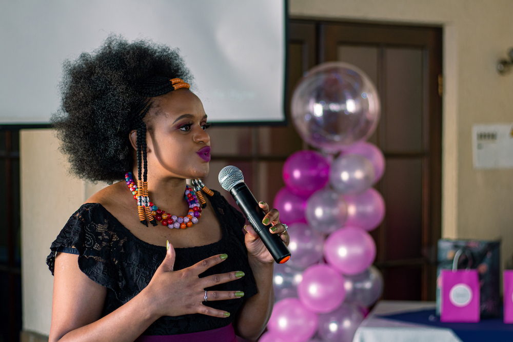 Siwe Matshisi at her women in business event in Johannesburg.