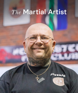 Henri Eksteen, the martial artist in Polokwane, at his gym.