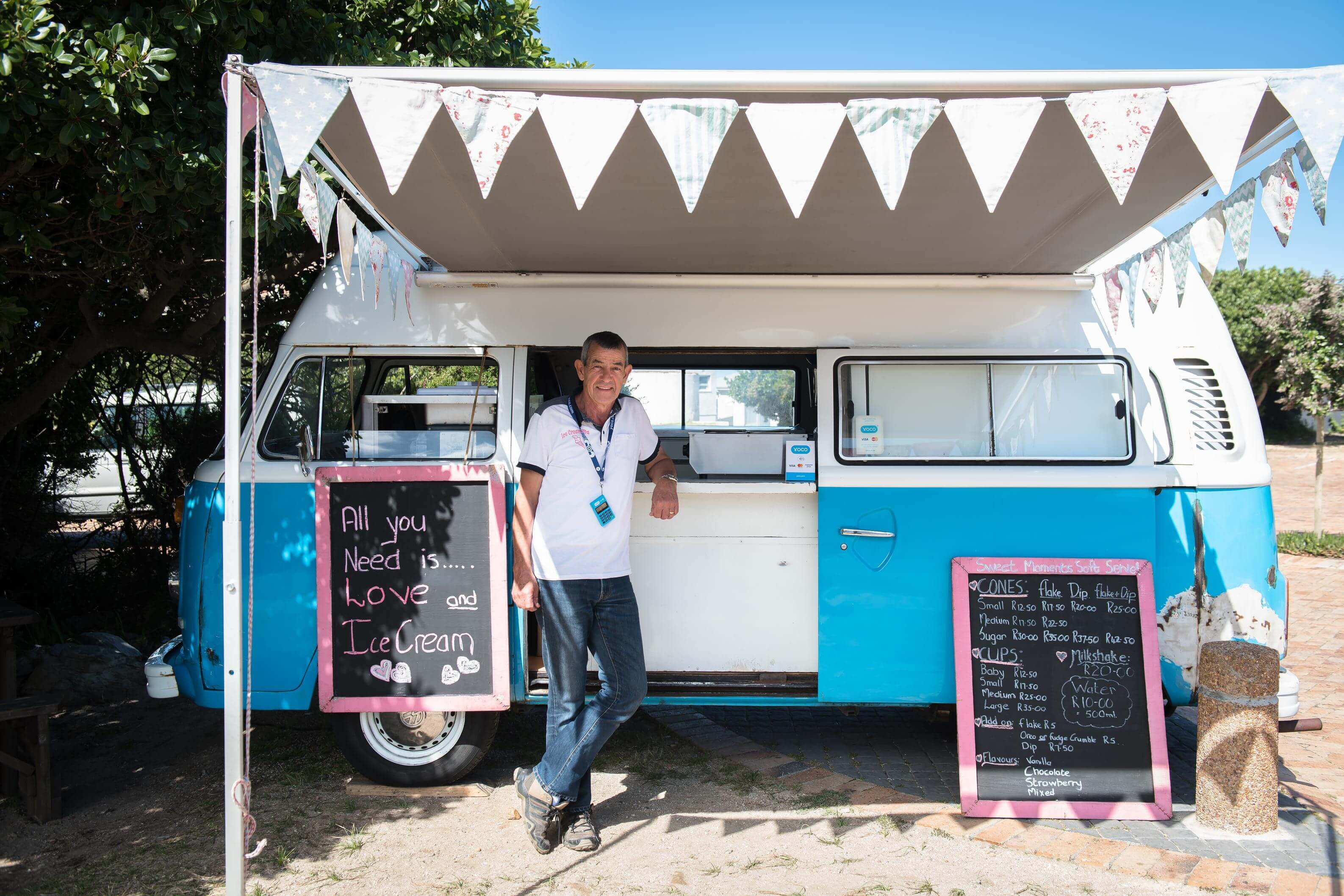 Michael Smith and Sweet Moments Soft Serve in Hermanus