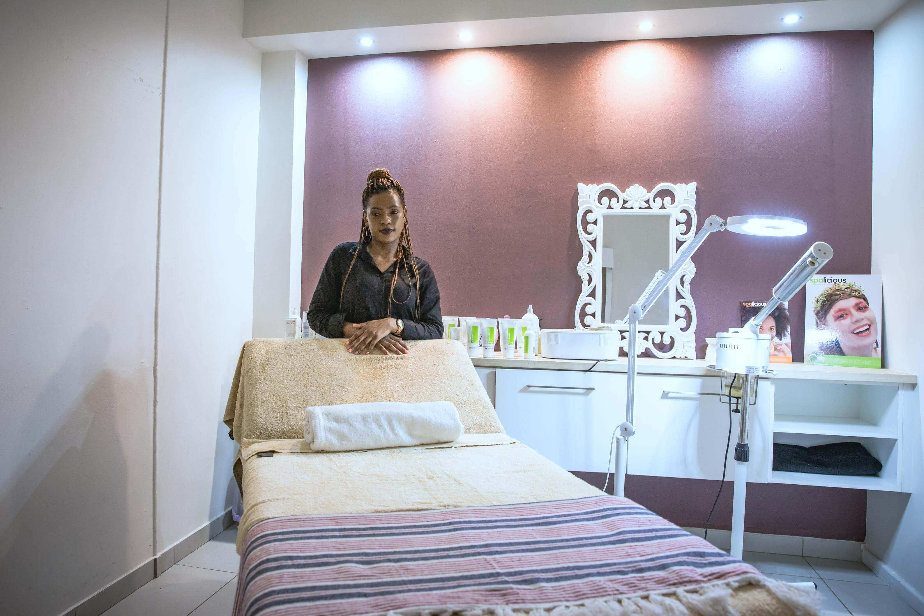 Nomthemba in her massage room.