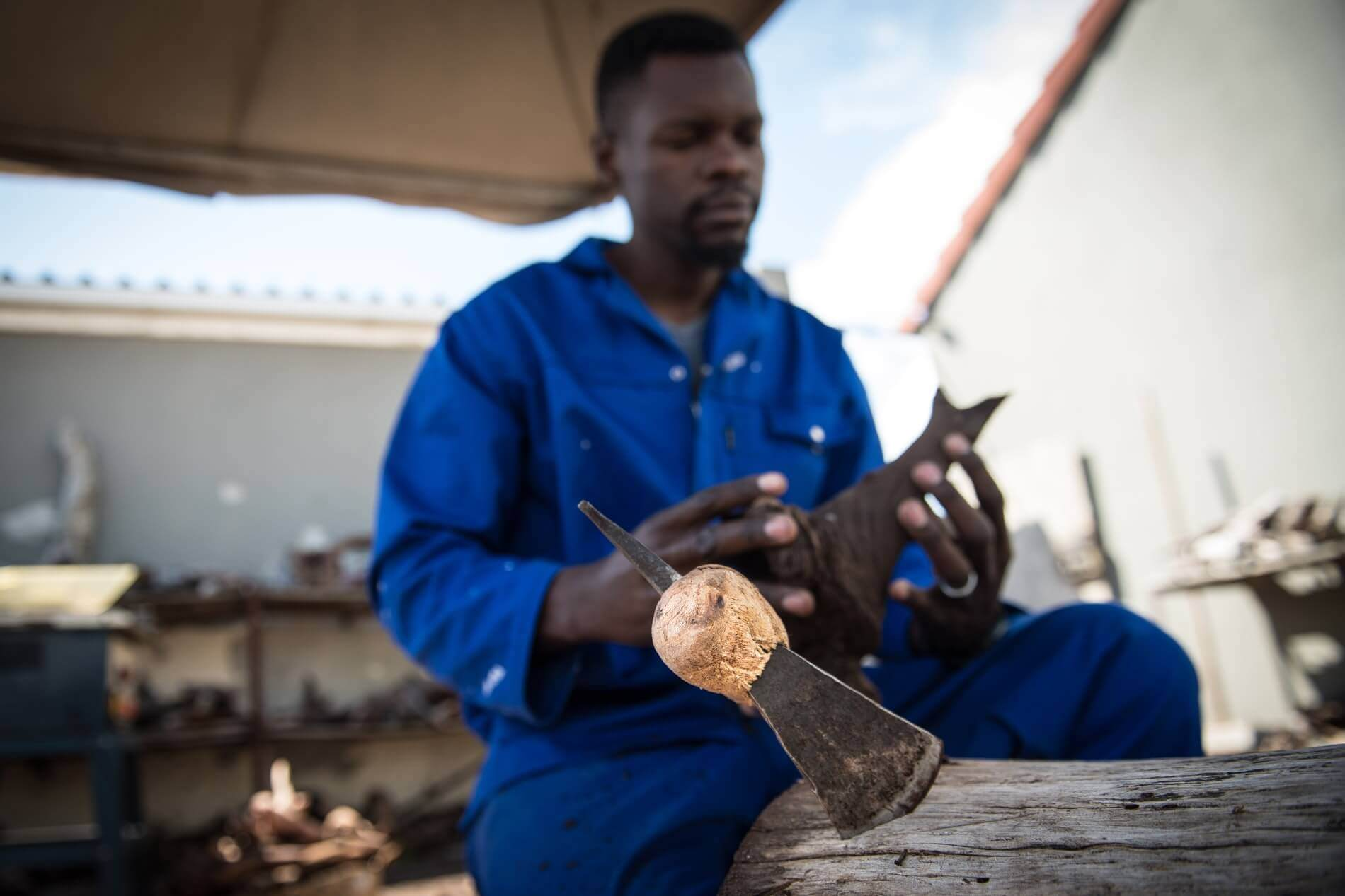 Boniface' favourite tools for wood.
