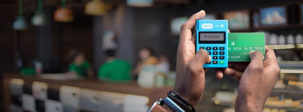 A banner image of the Yoco Go card machine.