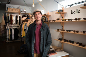 Alistair Barnes from Ballo in his store in Cape Town.