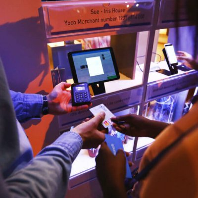 Demoing the Yoco Point of Sale system.