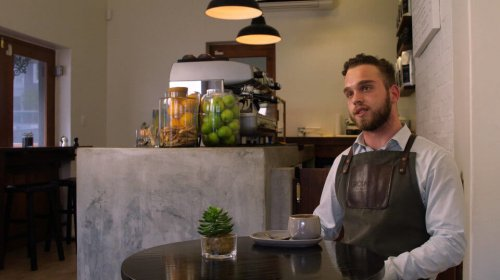 Dustin Cormack Thompson from Ground Art Caffe.