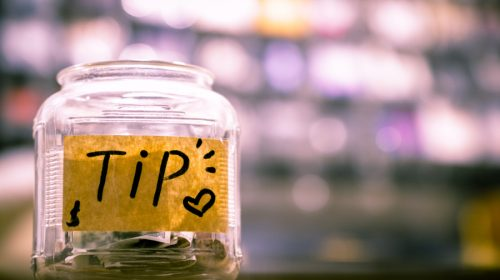 An image for an article about tipping in restaurants.