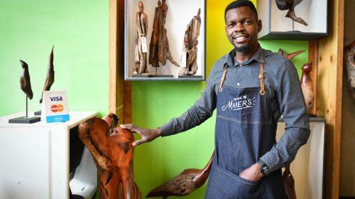 Boniface Chikwenhere of Unique Driftwood Creations.